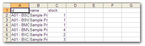 How do I import Product Inventory via CSV? Csv File Format Inventory Example on csv format in excel, text format example, journal entry format example,