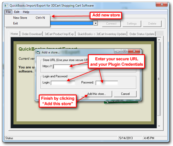How do I use the (Legacy) 3dcart/Quickbooks Plugin?