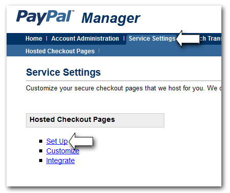 How do I set up PayPal Advanced?